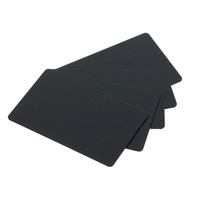 Cards .76mm PVC Food Safe Black 140 X 54mm (500 Pack)