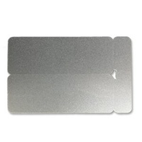 1.3mm Silver Double Name Badge